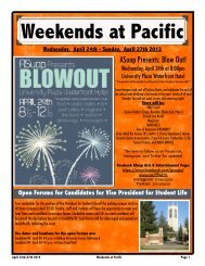 Weekends at Pacific 4:24-4:27 - University of the Pacific