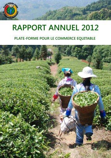 Rapport d'activité 2012 - la Plate-Forme pour le Commerce Équitable