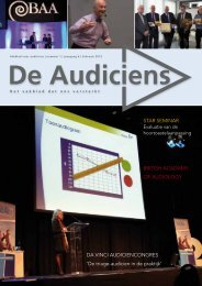 Star Seminar britiSh acadamy of audiology da Vinci ... - De Audiciens