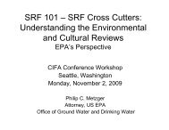 SRF Cross Cutters - Council of Infrastructure Financing Authorities