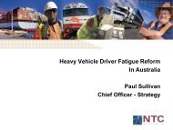 Heavy Vehicle Driver Fatigue Reform In Australia Paul ... - MCSAC