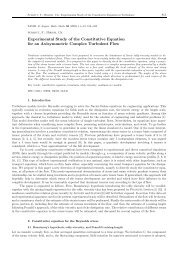 Experimental Study of the Constitutive Equation for an Axisymmetric ...