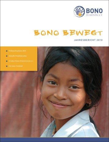 zum Jahresbericht - BONO Direkthilfe eV
