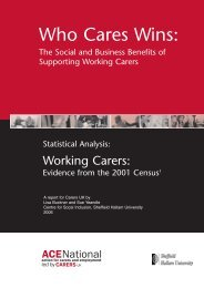 Who Cares Wins: - Employers for Carers