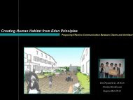 Creating Human Habitat from Eden Principles - Innomed