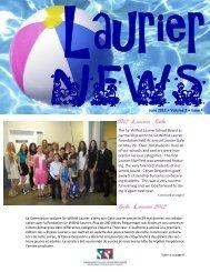 June 2012 Volume 3 Issue 4 The Sir Wilfrid Laurier School Board in ...
