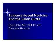 Evidence-based Medicine and the Pelvic Girdle