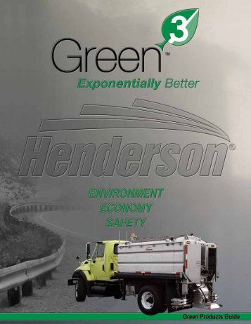 Green Products Guide (PDF) - Henderson Products