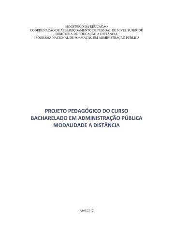 PPC do curso de ADMINISTRAÇÃO PÚBLICA - Departamento de ...