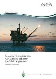Separation Technology from GEA Westfalia ... - Offshore Europe