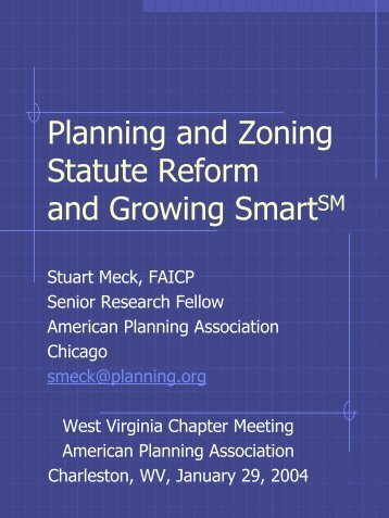 to view a Meck's presentation. - West Virginia Planning Association