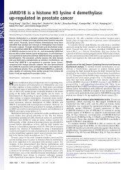JARID1B is a histone H3 lysine 4 demethylase up-regulated in ...