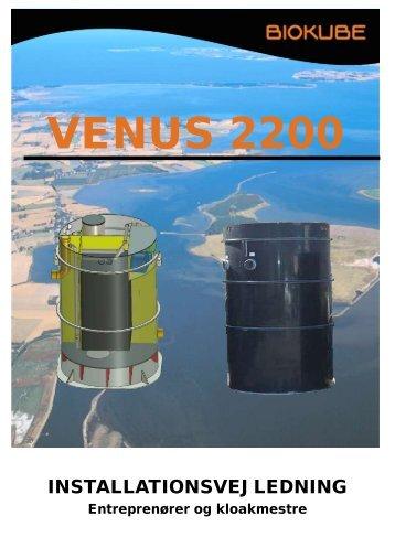 installationsvejledning til Venus 2200