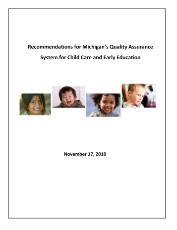 Recommendations for Michigan's Quality Assurance System for ...