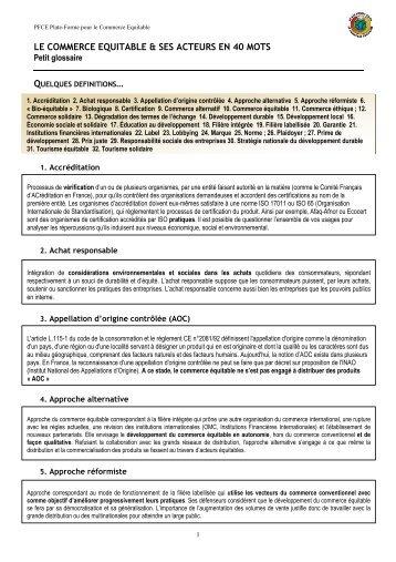 glossaire_ce_40_mots.. - la Plate-Forme pour le Commerce Équitable