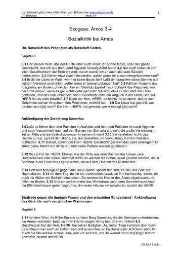 Exzerpt Aus Zenger Einleitung Ins At Maike Jakob Vaticarstende