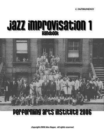 Improvisation 1 Handbook - Alex Noppe