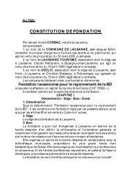 Téléchargez les statuts de la Fondation - BD Fil