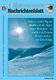 Nachrichtenblatt Jan/Feb 2006 - Werbegemeinschaft Geismar ...