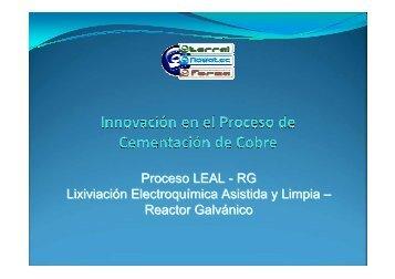 Innovacion en el proceso de cementacion de cobre