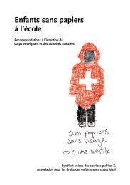 Enfants sans papiers à l'école - Serveur suisse de documents pour l ...