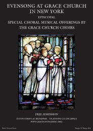 Special Choral Musical Offerings Postcard 2013 – 2014