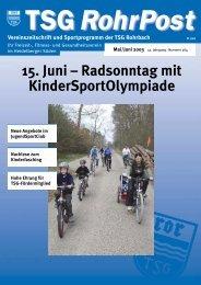15. Juni – Radsonntag mit KinderSportOlympiade - TSG Heidelberg ...