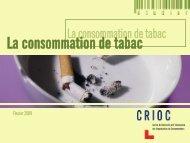 La consommation de tabac - Crioc