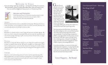 Grace Welcome Brochure - Grace Episcopal Church