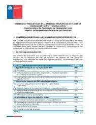 CRITERIOS Y PREGUNTAS DE EVALUACIÓN DE ... - Mecesup