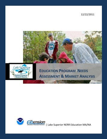 Market Analysis & Needs Assessment - Estuaries NOAA