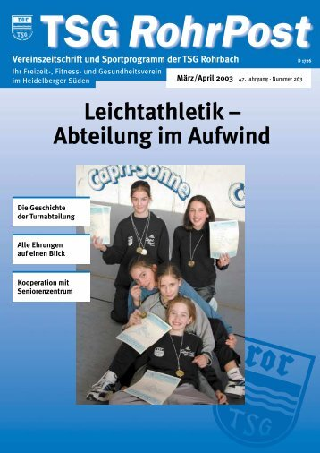 Leichtathletik – Abteilung im Aufwind - TSG Heidelberg-Rohrbach