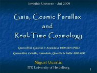 Gaia, Cosmic Parallax and Real-Time Cosmology - Univers Invisible