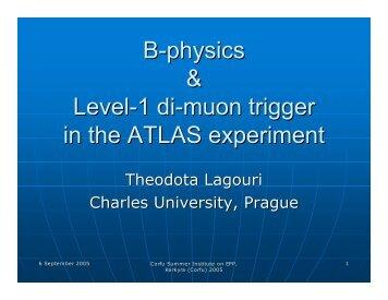 B-physics & Level-1 di-muon trigger in the ATLAS experiment