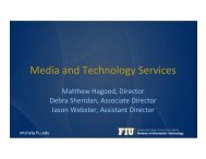 Media and Technology Services