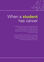 When a student has cancer - Impact of Special Needs