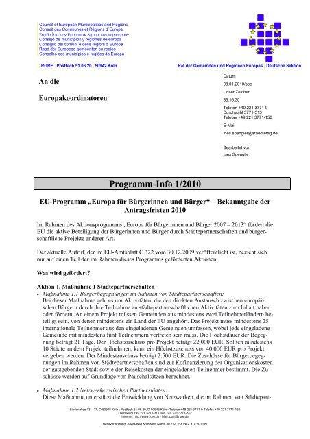 | Council of European Municipalities and Regions - Europa Aktuell
