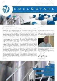 Edel&Stahl 02/2010 - E und F Metall und Rohrleitungsbau GmbH