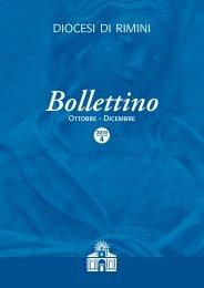 Ottobre - Dicembre Bollettino - Diocesi di Rimini