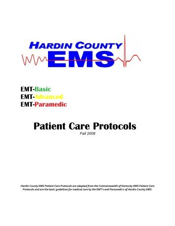 Patient Care Protocols - Hardin County Government