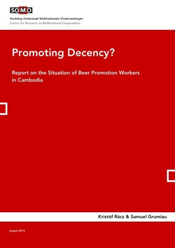 Promoting decency - Report on beer promoters in ... - Fair Trade Beer