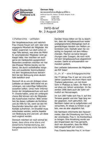 INFO-Brief Nr. 3 August 2008 - dhv-thailand