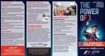 evenT informaTion for - Australian Grand Prix