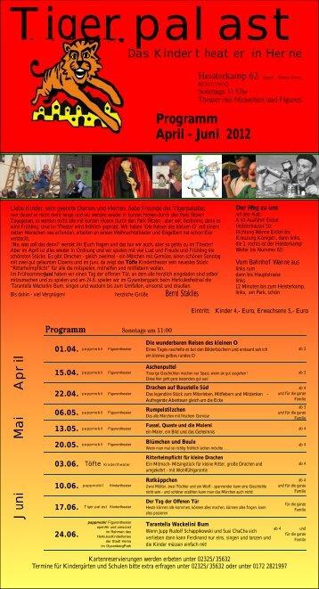 Programm April - Juni 2012 - www.tigerpalast-herne.de