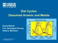 Diel Cycles: Arsenic and Metals - NJ Water Resources Research ...