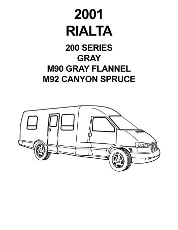 2003 Rialta Rv222hd 200 Series