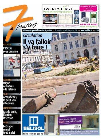 n° 45 voir ce numéro - 7 à Poitiers