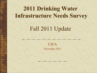 2011 Drinking Water Infrastructure Needs Survey