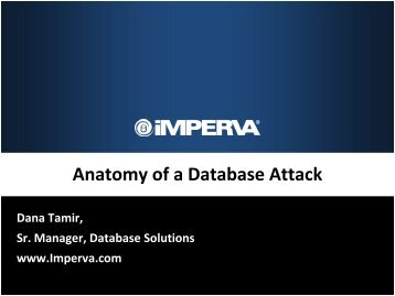 Anatomy of a Database Attack - Oracle DBA – Tips and Techniques