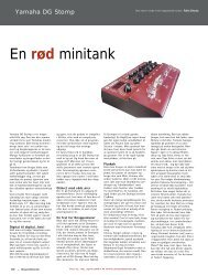 En rød minitank - Soundcheck